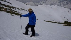 プローブでの積雪調査